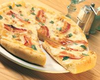 October is National Pizza Month.  White Cheddar Pizza with Bacon | Wisconsin Milk Marketing Board