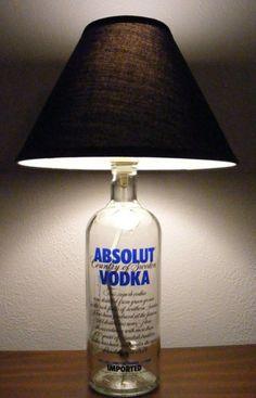 Night Lamps from Liquor bottle