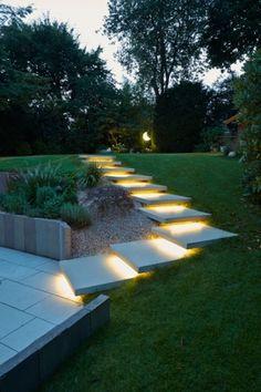 Conceo Stufenplatten mit LichtDesign #Metten