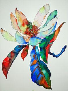 "Saatchi Art Artist Sofia Perina-Miller; Painting, ""Magnolia"" #art"