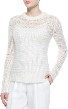 Spotted while shopping on Poshmark: Michael Kors knit sweater! White Knit Sweater, Loose Knit Sweaters, White Sweaters, Pullover Sweaters, Michael Kors Collection, Lookbook, Long Sleeve Sweater, Knitting, Zen 2