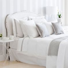 white and grey bed linen | ZARA HOME
