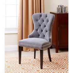 ABBYSON LIVING Versailles Tufted Dining Chair, Grey
