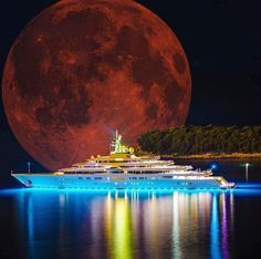 The Top 10 Luxury Yachts You Need to Know Cool Boats, Red Moon, Yacht Boat, Blood Moon, Yacht Design, Water Crafts, Luxury Life, Luxury Cars, Cool Photos