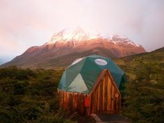 Torres del Paine's EcoCamp -- comes with a view...