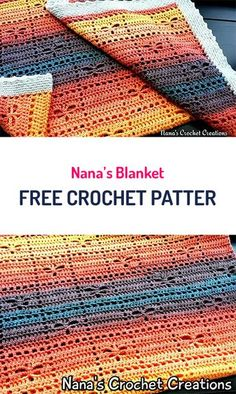 Nana's Blanket Free Crochet Pattern #crochet #homedecor #handmade #diy #crafts