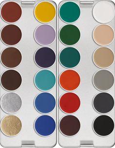Kryolan Aquacolor - Aquacolor Palette 24 couleurs K - Palettes #kryolan #aquacolor #maquillage