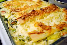 Veggie Lasagna with White Sauce