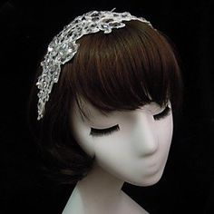 FLOW ZIG Women's Lace/Rhinestone Headpiece - Special Occasion Headbands *** Find out more about the great product at the image link.-It is an affiliate link to Amazon. #BroochesPins