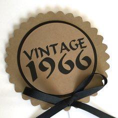 50th Birthday  Vintage 1966 Cake Topper by CarasScrapNStampArt