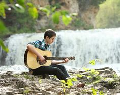 senior pictures with a guitar | Zach | Hudson WI senior portrait photographer Senior portrait guitar ...