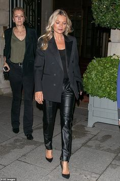 New focus: Kate's outings come after she was said to have recently become more focused on her health and living a clean-cut lifestyle Celebrity Dresses, Celebrity Style, Estilo Kate Moss, Party Fashion, Fashion Outfits, Rocker Chic Style, Yves Saint Laurent Paris, Kate Moss Style, Moss Fashion