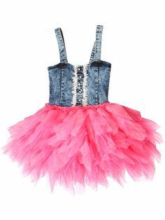 69653e405a1 Ooh! La La! Couture Candy Pink Denim Dress