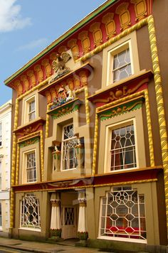 The Egyptian House Penzance Cornwall The Building Dates Back To 1835 It Is Thought That The Architect Was John Foulston From Plymouth Who Is Credited