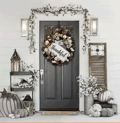 Vintage French Soul  ~ #autumn_decor_entrance
