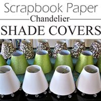 Love the chandelier shades you see in Ballard Designs. Make your own for a few dollars using scrapbook paper Chandelier Light Shade, Diy Light Shade, Paper Chandelier, Dining Chandelier, Antique Chandelier, Black Chandelier, Contemporary Chandelier, Chandeliers, How To Make A Chandelier