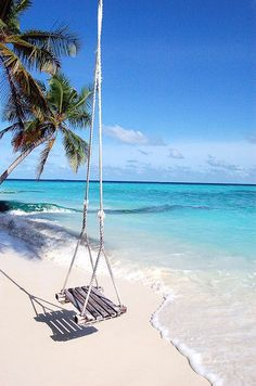 This is pure Heaven to me! I could swing & look at the beach ALL day!!!!