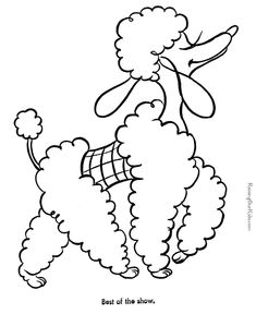 dog picture for kids to color
