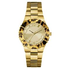 GUESS Women's W0404L1 Gold-Tone Watch Animal Print Bezel -- Check this awesome product by going to the link at the image.