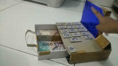 Mesin kasir sederhana dari kardus  Cash register