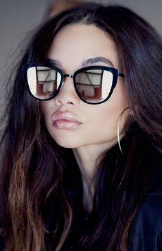 Quay Australia | Super Girl Sunglasses - Black/Silver | New Arrivals | Peppermayo