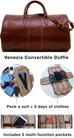 Venezia Garment Duffle in Tempesti Leather Canvas Duffle Bag, Leather Duffle Bag, Leather Bags, Duffle Bags, Duffle Bag Patterns, Leather Bag Pattern, Insulated Lunch Bags, Brown Bags, Fashion Bags