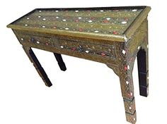 Moroccan Console Table Gold Carved & Etched Metal Arabesque Furniture 2 Drawers Moroccan Furniture Bazaar LLC http://www.amazon.com/dp/B012BOKY3U/ref=cm_sw_r_pi_dp_dtaSvb01PZ69B