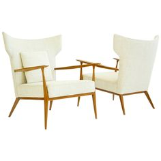 Pair of Paul McCobb Wingback Lounge Chairs | See more antique and modern Wingback Chairs at http://www.1stdibs.com/furniture/seating/wingback-chairs