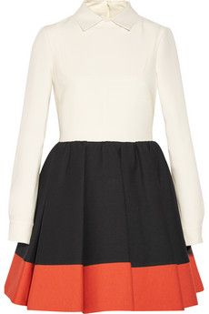Valentino Wool and silk-blend mini dress | NET-A-PORTER