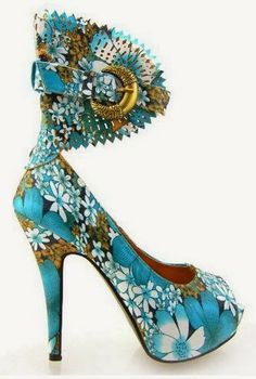 Fabulous Cool Stuff: Floral Gladiator Stiletto