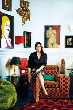 Tour jewelry designer Solange Azagury-Partridge's fantastically feathered home.