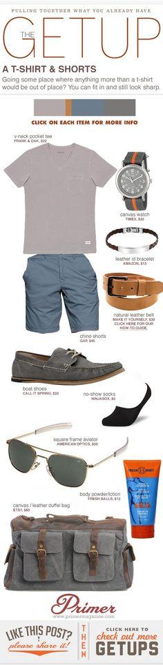 The Getup: T-shirt & Shorts | Primer