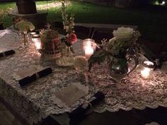 Romantic elegant table setting