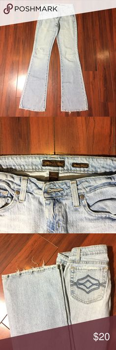 Aeropostale stretch flare jeans. Light blue factory lightly ripped size 1 in juniors and 2 in women. Jeans Flare & Wide Leg