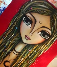 Discover ideas about beauty illustration Frida Art, Painted Rocks Kids, Doll Painting, Arte Pop, Painting Videos, Weird Art, Art Journal Inspiration, Whimsical Art, Big Eyes
