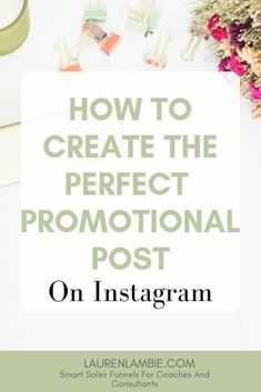 How to Create the Perfect Promotional Post on // Lauren Lambie -- Marketing Tools, Business Marketing, Business Tips, Internet Marketing, Online Marketing, Social Media Marketing, Online Business, Cake Business, Marketing Quotes