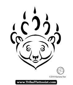 Oso Tribal Tattoo 05