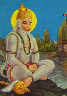 The prayers of Hanumân and Nârada and the glories of Bhârata-varsha Shri Hanuman, Sai Baba Photos, Hindu Art, Buddhist Art, Lord Shiva, Hinduism, Religious Art, Deities, Religion