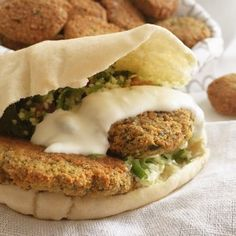 Crunchy Falafel. Make sure to soak chickpeas in advance. I baked them and they were great.