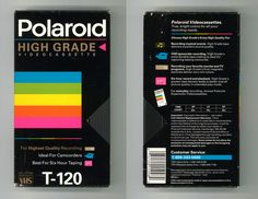 Back in the day we didn't record stuff on DVDs, but on VHS tapes. And you can really see the Polaroid style influence on these boxes! Vhs Cassette, Vhs Tapes, 80s Design, Graphic Design, Math Books, Video Home, Box Art, Polaroid, Cool Stuff