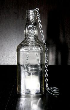 Jack Whisky Bottle Lantern by OddgirlEnterprises on Etsy