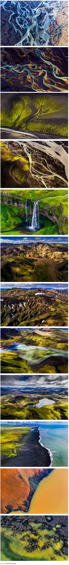 Iceland from Above -  capturing the beauty of Iceland from an aerial view created by photographer Lukas Gawenda.    Images © Lukas Gawenda
