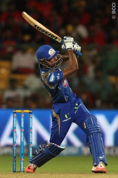 Hardik Pandya of Mumbai Indians hits over the top for six during match 16 of the Pepsi IPL 2015 (Indian Premier League) between The Royal Challengers Bangalore and The Mumbai Indians held at the M. Chinnaswamy Stadium in Bengaluru, India on the April Cricket Tips, Cricket Sport, Mumbai Indians Ipl, India Cricket Team, Cricket Wallpapers, Yuvraj Singh, Ab De Villiers, Lord Shiva Hd Images, Cute Love Images