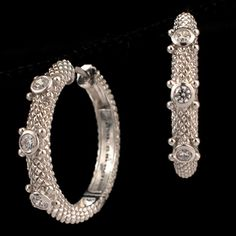 Shop SSilver Judith Ripka CZ Round Earrings and other jewelry, art, coins, rugs and real estate at www.aantv.com