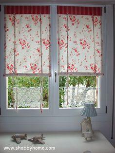 Shabby Home: Tutorial come realizzare delle tende Shabby Chic - Tutorial how to sew a Shabby Chic awning