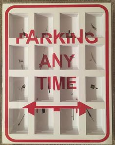 Marco Maggi 'Parking Any Time' 2010. Cuts on Paper, Plexiglass – Art Decor NYC ®