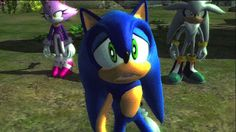 sonic the hedgehog (2006) <--- This is one of the most depressing expressions I've ever seen on Sonic's face.