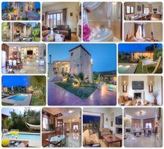 villa dimitrios panormo creta Villa, Mansions, House Styles, Home Decor, Houses, Mansion Houses, Homemade Home Decor, Manor Houses, Fancy Houses