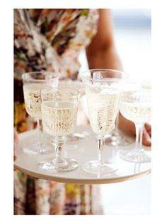 champagne glasses to toast