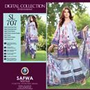 Safwa Digital Selfie Linen Collection.  Three piece linen suit price is Rs 2950/- only. #wintercollection #khaadi #gulahmed #alkaramstudio #nishatlinen  #Pakistan #womenclothing #khadi #onlineshopping #darazpk #fashiononline
